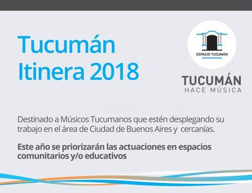 Tucumán Itinera 2018