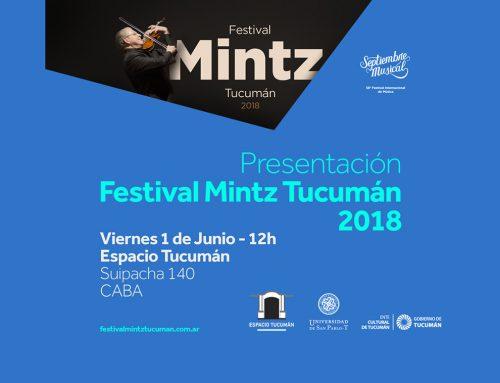 Presentación Festival Mintz Tucumán 2018