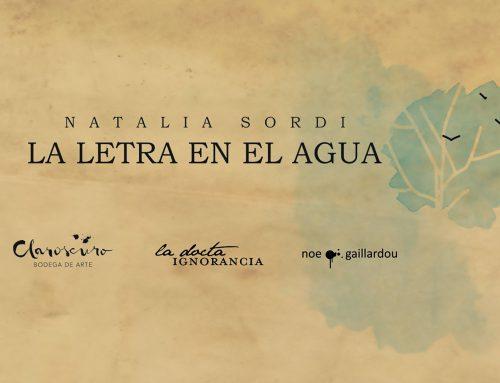 Presentación del libro: La Letra en el Agua + Flor Bobadilla y Alejandro Manzoni. Jueves 7 de Marzo – 21hs