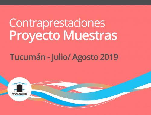 Contraprestaciones Proyecto Muestras 2019 – julio, agosto 2019