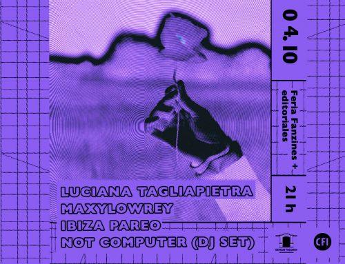Motor Pop: Luciana Tagliapietra + Maxylowrey. Viernes 4 de octubre – 21hs