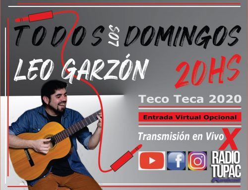 Todos los domingos! Concierto en linea de Leo Garzón. Domingos – 20hs