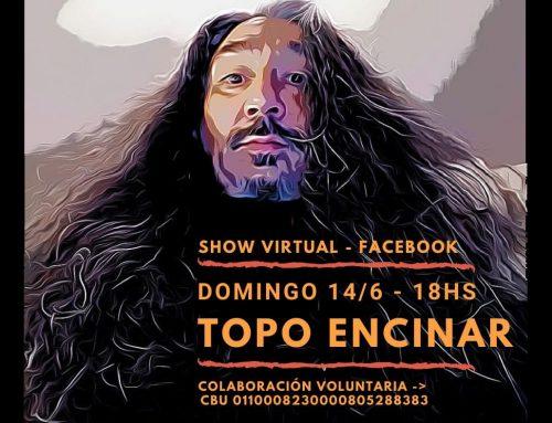 Topo Encinar en Lalala Radio. Viernes 12/6 – 17hs + Show en vivo. Domingo 14/6 – 18hs