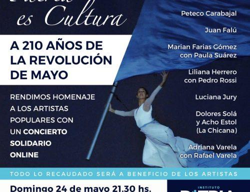 Juan Falu en concierto: Patria es cultura. Domingo 24/5 – 21:30hs