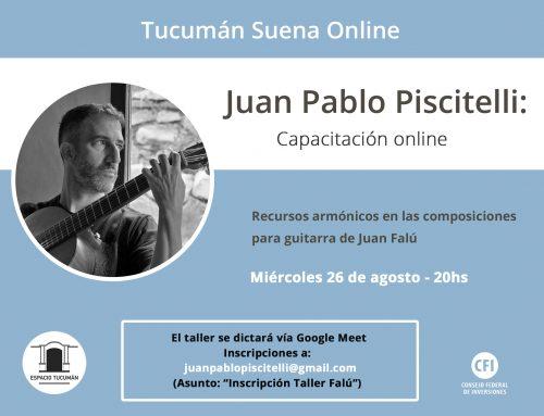 Capacitación online: Juan Pablo Piscitelli